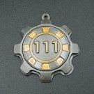 "Resin Fallout badge keyring - Vault 111 - 1,7"" (45mm)"
