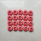 Round BABOLAT Red CUSTOM DAMP tennis vibration dampener shock absorber 20Pcs