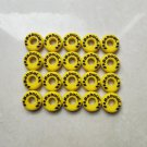 Round BABOLAT Yellow CUSTOM DAMP tennis vibration dampener shock absorber 20Pcs