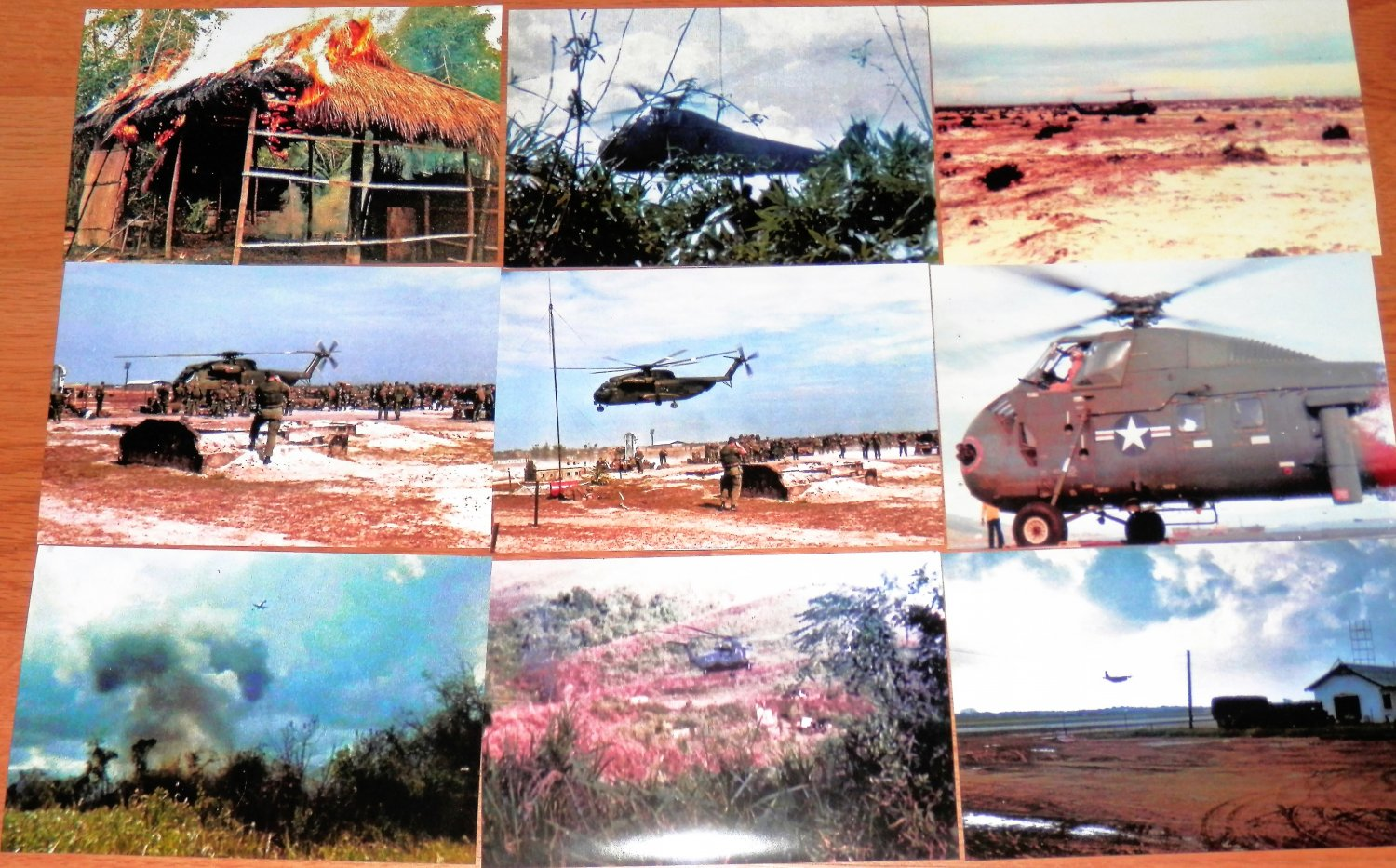 """Vietnam = WAR + TROOPs  1967 = 72  (4"""" by 6"""")  Color PHOTOS + 2 (8""""by10"""") photos-$12 Value"""