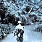 "Vietnam = Jungle Patrol - USMC - 1967 = 11"" by 14"" Color Photo"