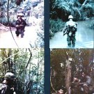 "Vietnam = Jungle Patrol - USMC - 1967 = 8"" by 10"" Framed Color Photo"