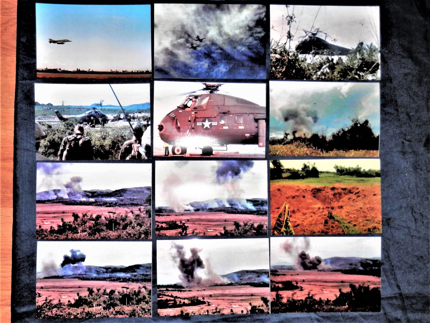 """Vietnam WAR = TROOPs + Air Power = 108  (4"""" by 6"""")  Color PHOTOS + 2 (8""""by10"""") photos"""
