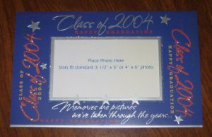 Class of 2004 Happy Graduation Photo Frame Card by American Greetings