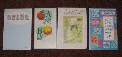 Graduation Cards American Greetings Set of Four (4) Different Card Designs with Envelopes