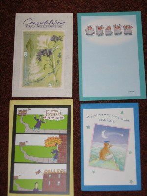 Set of 4 Graduation Cards by American Greetings Different Card Designs with Envelopes