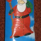 Santa Garden Flag Decorative Sculpted Big Banner Size 25.5 x 39.5