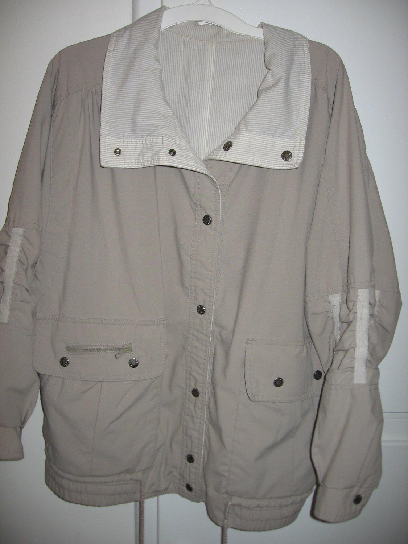 IZZI Beige Jacket Coat Misses Size Medium M