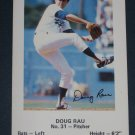 Dodgers DOUG RAU #31 Baseball TRADING CARD Los Angeles Police Department