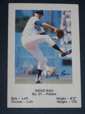 Dodgers DOUG RAU #31 Baseball TRADING CARD Los Angeles Police Department