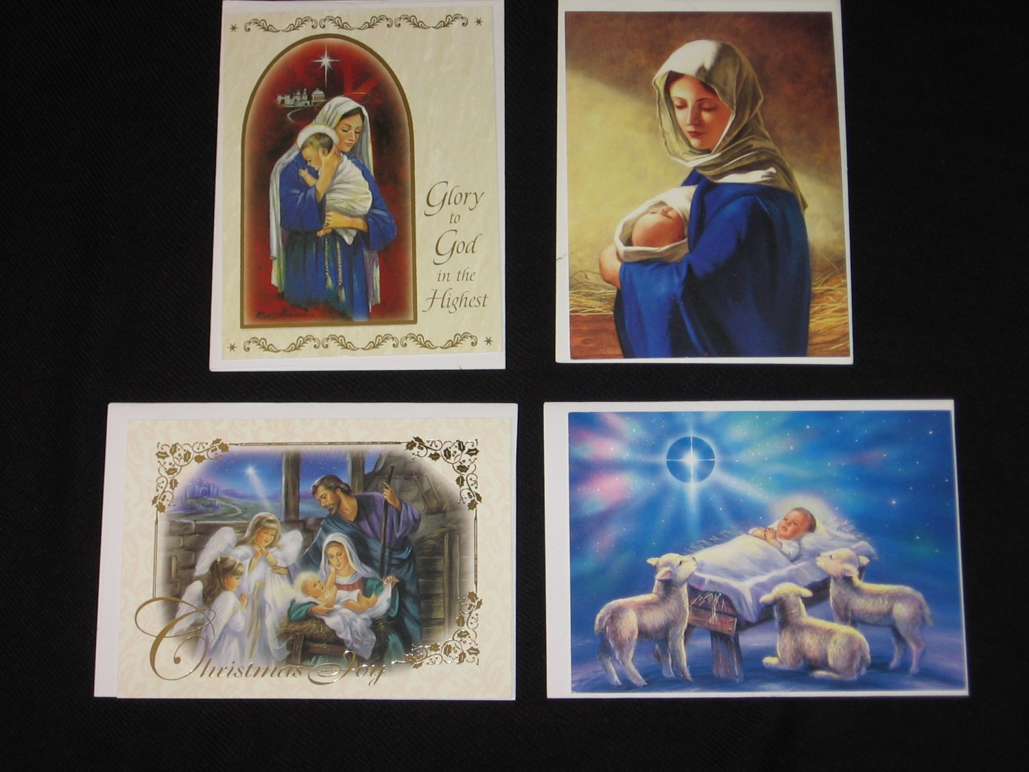 Religious Catholic Christmas Cards Set of 4 Salvatorians Society of the Divine Savior