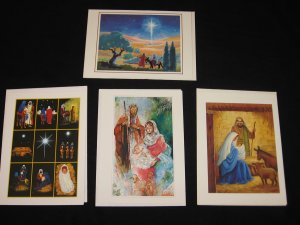 Mouth Painting CHRISTMAS CARDS Set of 4 with Envelopes Handi-Card
