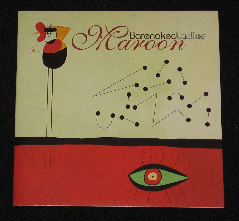 Barenaked Ladies Maroon Song LYRICS BOOKLET
