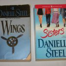 Danielle Steel Lot of 2 Paperback Books SISTERS and WINGS
