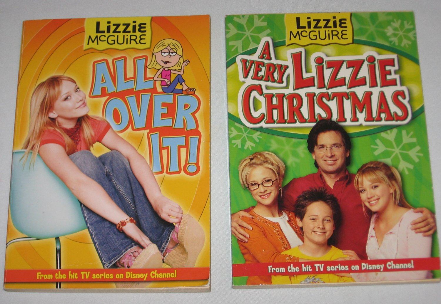 lot of 2 lizzie mcguire books a very lizzie christmas and all over it disney channel series - Disney Channel Christmas