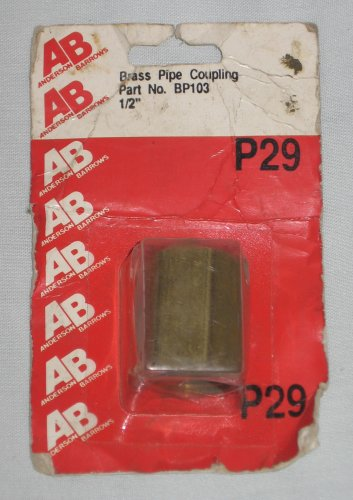 Brass Pipe Coupling ½ inch BP103 Anderson Barrows Metals NEW