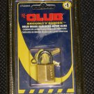 THE CLUB Security Series Solid Brass Padlock Keyed Alike UTL825KA - NEW