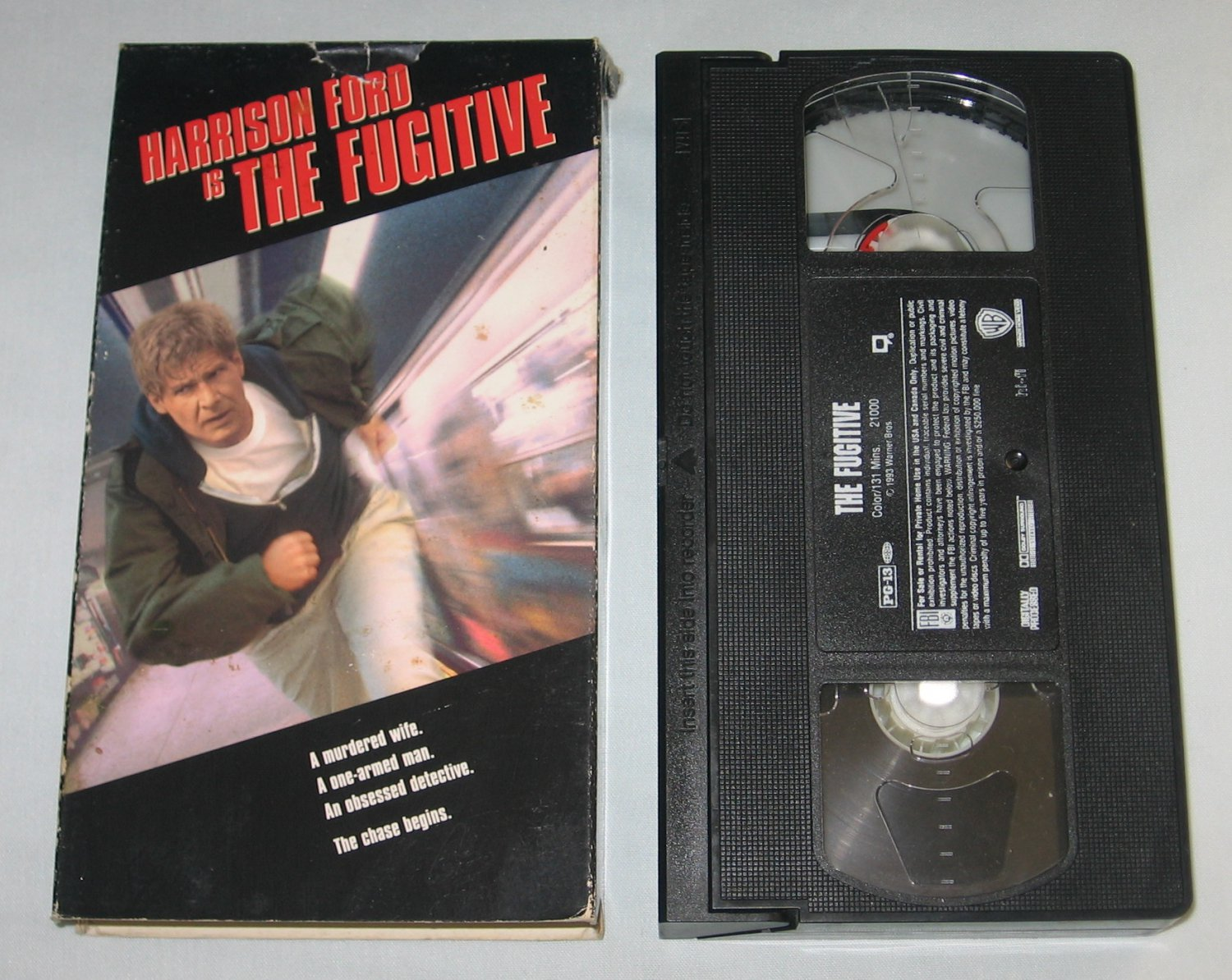 the fugitive vhs 1994 harrison ford tommy lee jones