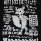 What Does the Fox Say Black Shirt Youth Size Large L