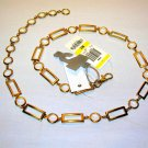 Rectangles and Circles Chain Belt Goldtone Macys Charter Club NEW
