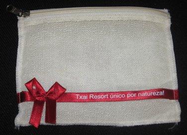 TXAI Resort Itacare Bahia Brazil Souvenir Cosmetic Toiletry Case Zippered Bag NEW