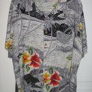 Kennington LTD California Floral Beach Hawaiian Surfer Shirt Mens Size L Large