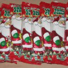 Solid Milk Chocolate Foil Wrapped Santa Claus by Palmer Lot of 8