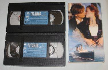 TITANIC 2-Tape VHS starring Leonardo DiCaprio, Kate Winslet, Billy Zane, Kathy Bates, Bill Paxton