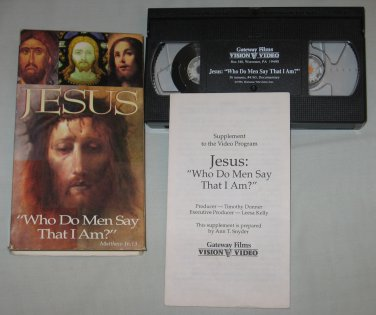 Jesus Who Do Men Say That I Am? (VHS, 1994) RARE Hard To Find Religious Tape