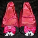 Disney Minnie Mouse Sparkle Glitter Pink Ballet Flat Shoes Size 6 – 12 Months