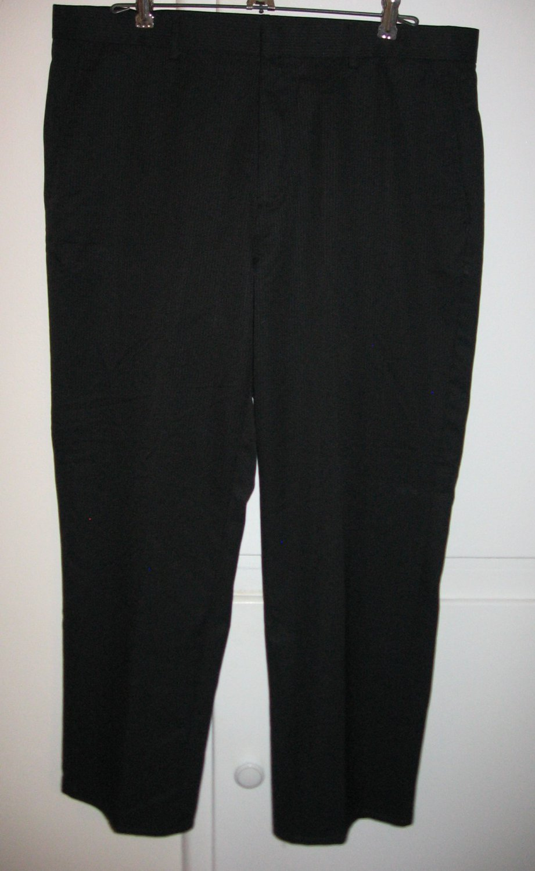 Calvin Klein Black Pinstripes Dress Pants Slacks Flat Front Mens Size 34