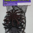 Set of 6 Mini Hairy Spiders Halloween Decoration Item 91074MBKR Fun World NEW