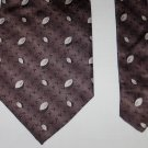 COVONA Collection Mens Silk Tie Necktie Brown with Tan Leaves