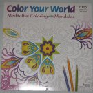 Color Your World Meditative Coloring with Mandalas 2016 Wall Calendar NEW
