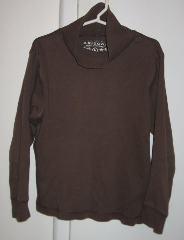 Arizona Jean Co Long Sleeve Brown Shirt Girls Large L Made in Egypt