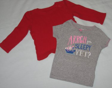 Lot of 2 Toddler Girls Shirts Tops Old Navy and Carters Size 18 � 24 Months