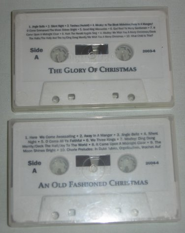Lot of 2 Holiday Music Cassettes An Old Fashioned Christmas, The Glory of Christmas