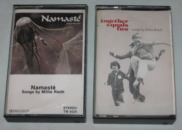 Lot of 2 Millie Rieth RARE Cassettes Namaste, Together Equals Fun Catholic Religious Songs