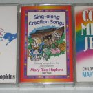 Lot of 3 Mary Rice Hopkins Cassettes Sing Along Songs Fingerprints Come Meet Jesus Bible Music
