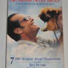 As Good As It Gets VHS Comedy Jack Nicholson, Helen Hunt, Greg Kinnear, Cuba Gooding Jr