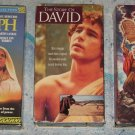 Lot of 3 Religious Bible VHS Movies Joseph, Story of David, Ten Commandments 1956 ALL 2-Tape Sets