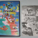 Kiddie Viddie Lets Be Friends 1989 VHS with Song Book RARE Hard to Find