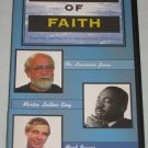 Heroes of Faith VHS Martin Luther King, Hersheiser, Brubeck, Rogers, Rizk, Jenco +++