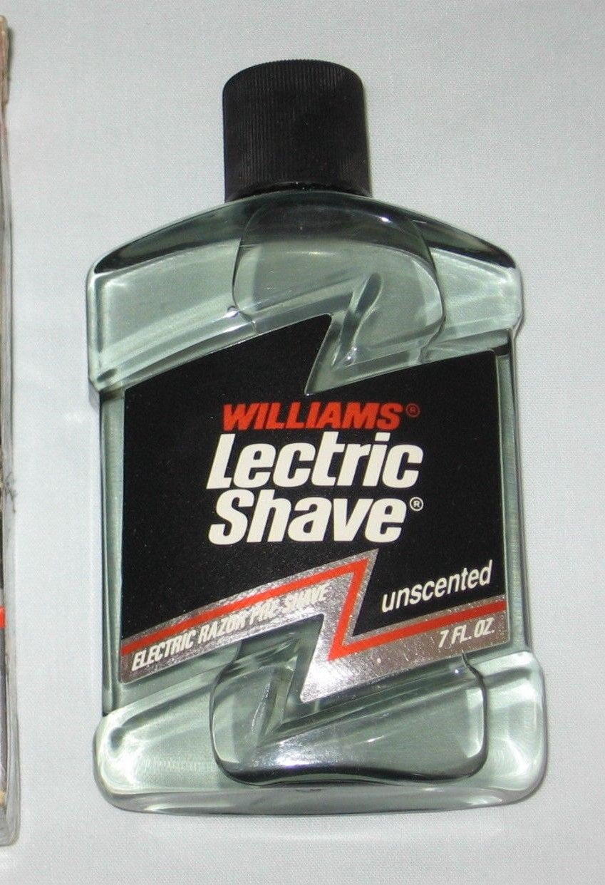 Williams Lectric Shave Unscented Electric Razor Pre Shave