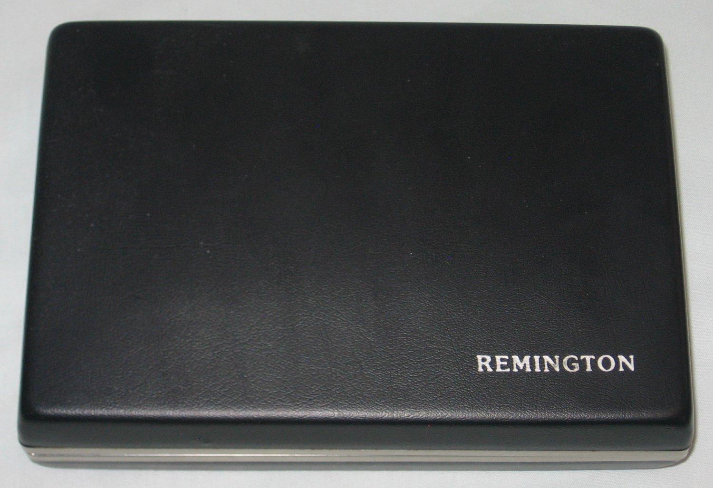 Vintage Remington Electric Shaver Black Hard Shell STORAGE CASE Made in USA