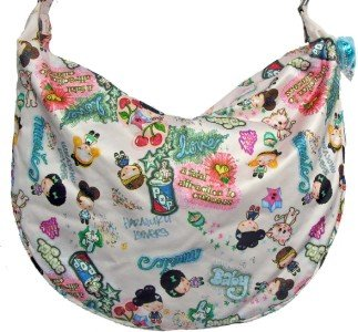 Harajuku Lovers Dessert Photo Doodle Tote Hobo bag Purse style 8213HL NWT