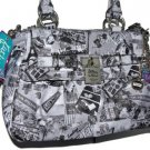 Kathy Van Zeeland POSTMAN SATCHEL Cross Body Travel Print Bag Purse NWT