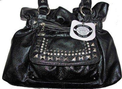 Kathy Van Zeeland FLASHING LIGHTS Black Belt Shopper Bag Purse NWT
