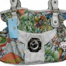 Kathy Van Zeeland BALI PRINT BANK JOB SATCHEL Purse Bag NWT