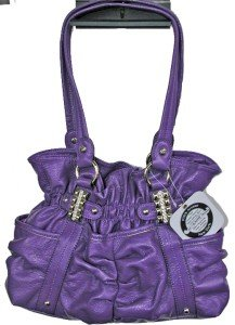 Kathy Van Zeeland Finders Keepers Purple Belt Shopper Bag Purse NWT